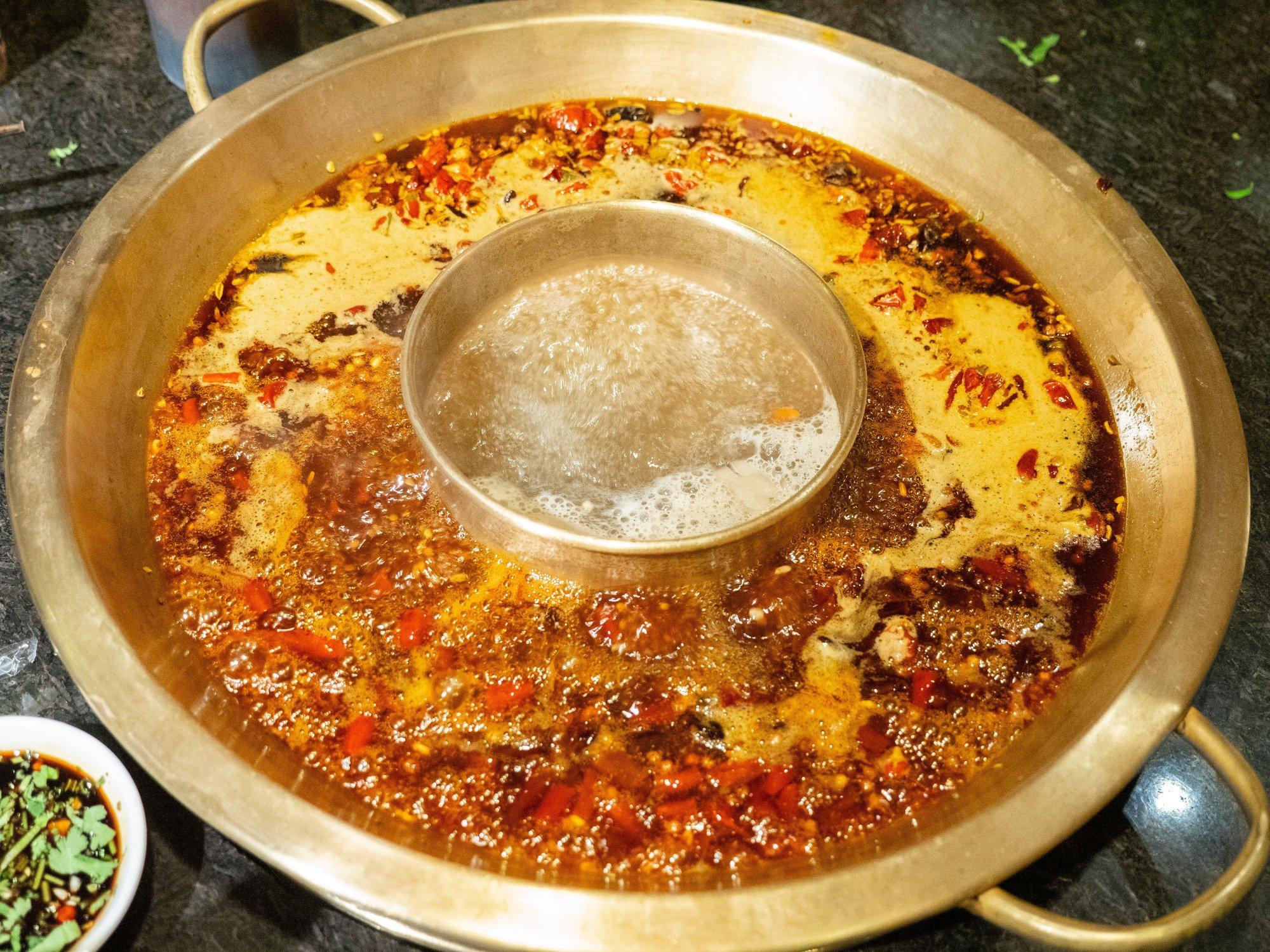 One of the best Szechuan hot pot restaurants in Chengdu