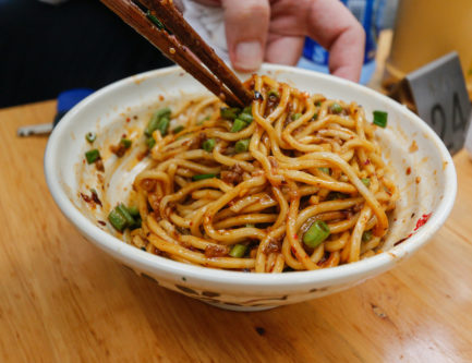 The green bean noodles in Chengdu, China