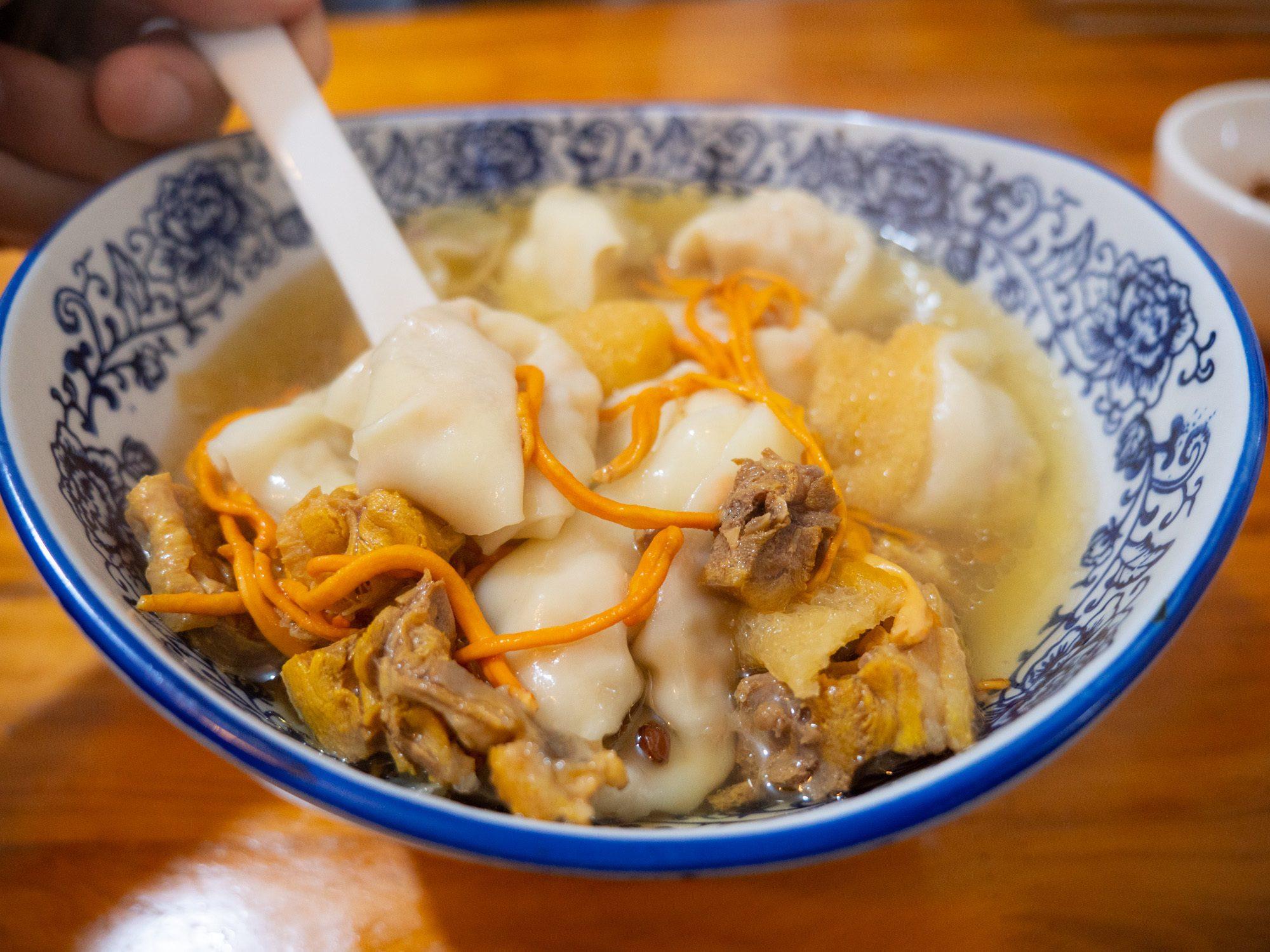 The chicken and shrimp wontons at ganhaijiao chaoshou