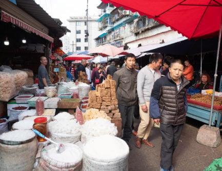 Supo farmers market in chengdu china