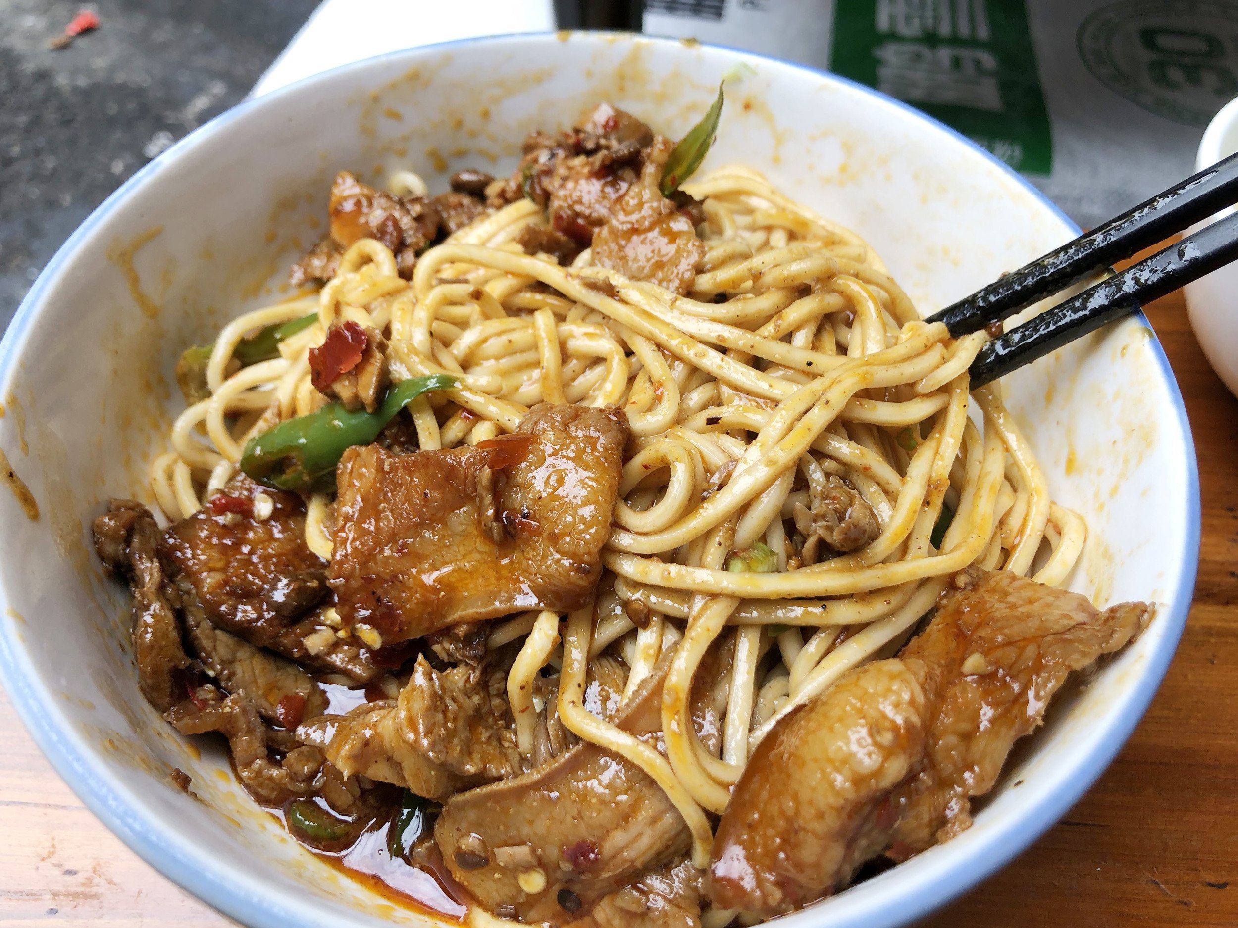 delicious spicy noodles in chengdu