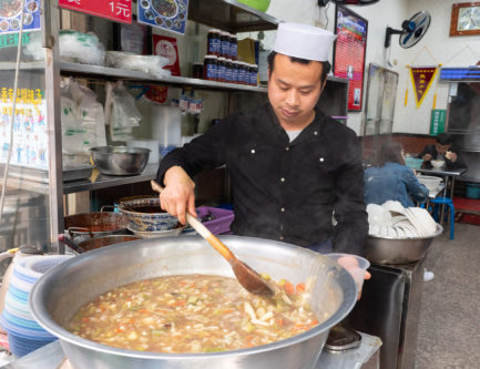 The famous hulatang beef ball soup in Xi'an