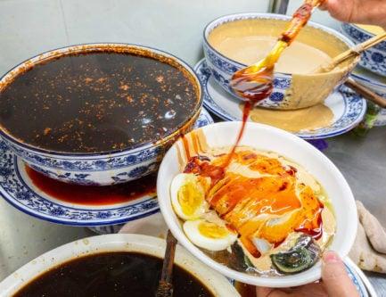 Luzhi liangfen found at Restaurant name: 老何家卤汁凉粉