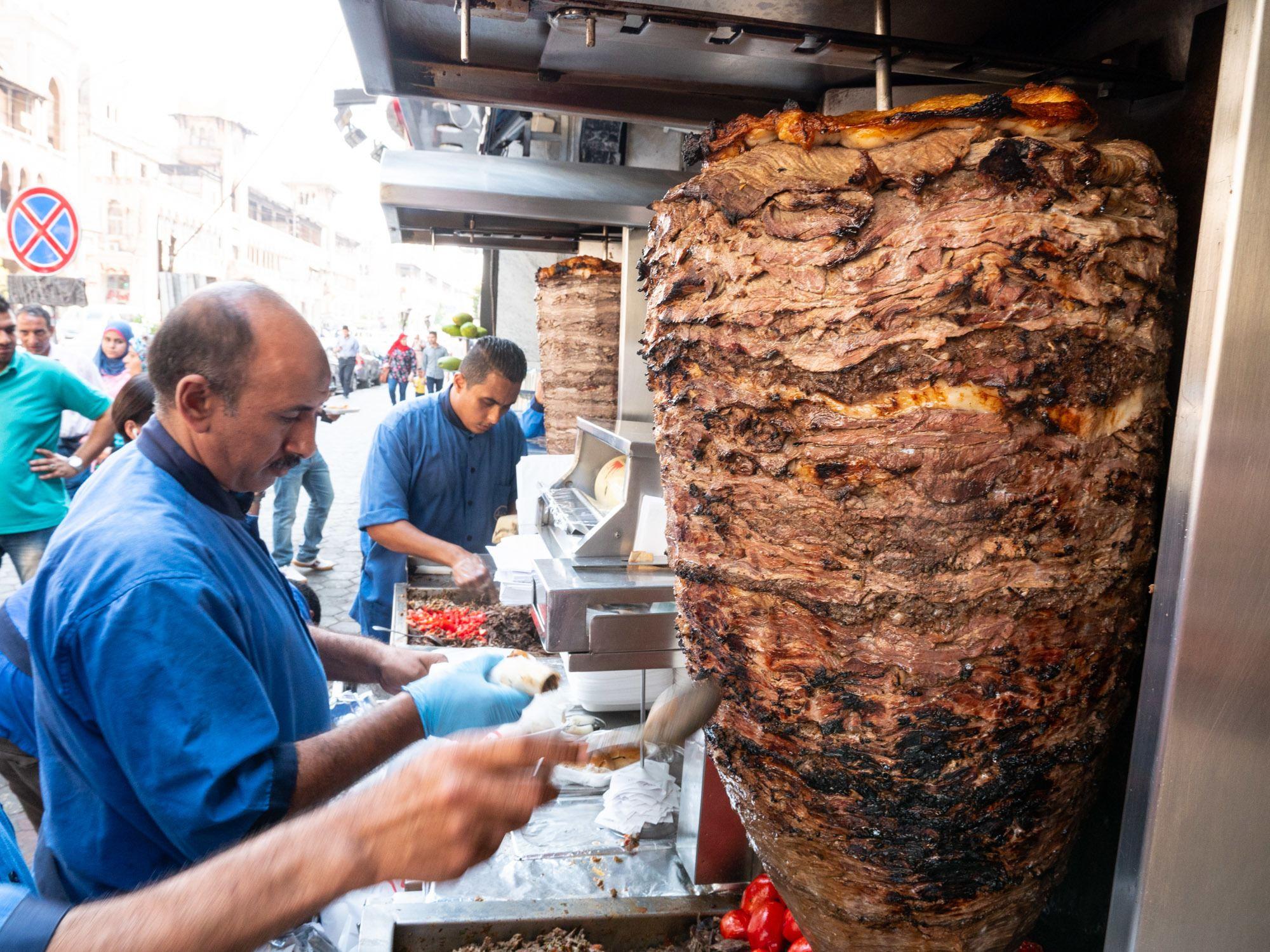 Food in Cairo Shawarma