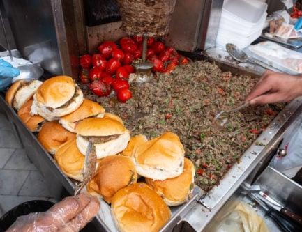 Egyptian shawarma in Cairo