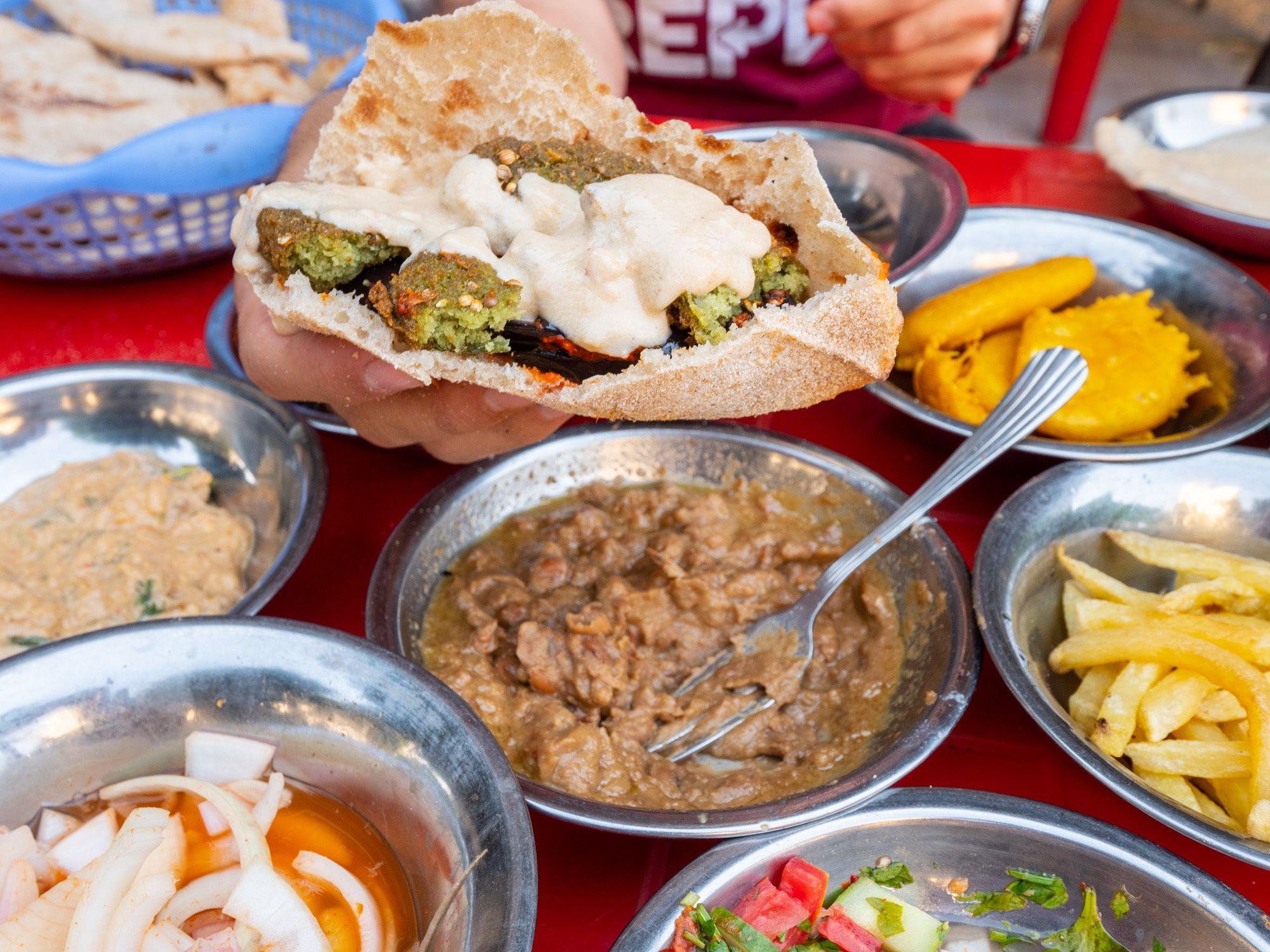 Egyptian cuisine foul fava bean dip in Cairo, Egypt