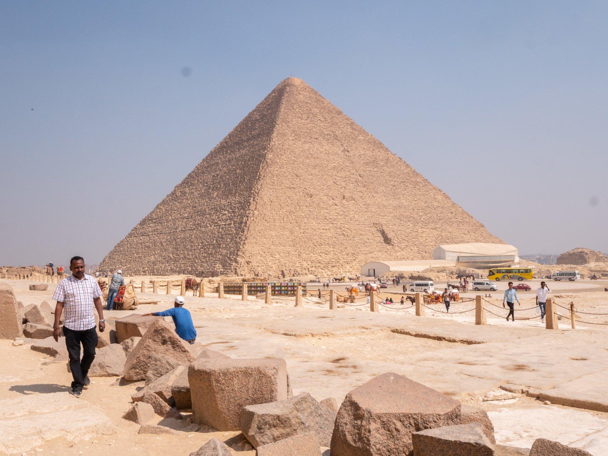 The pyramids in Cairo