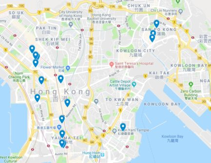 Hong Kong Food Map Recommendations