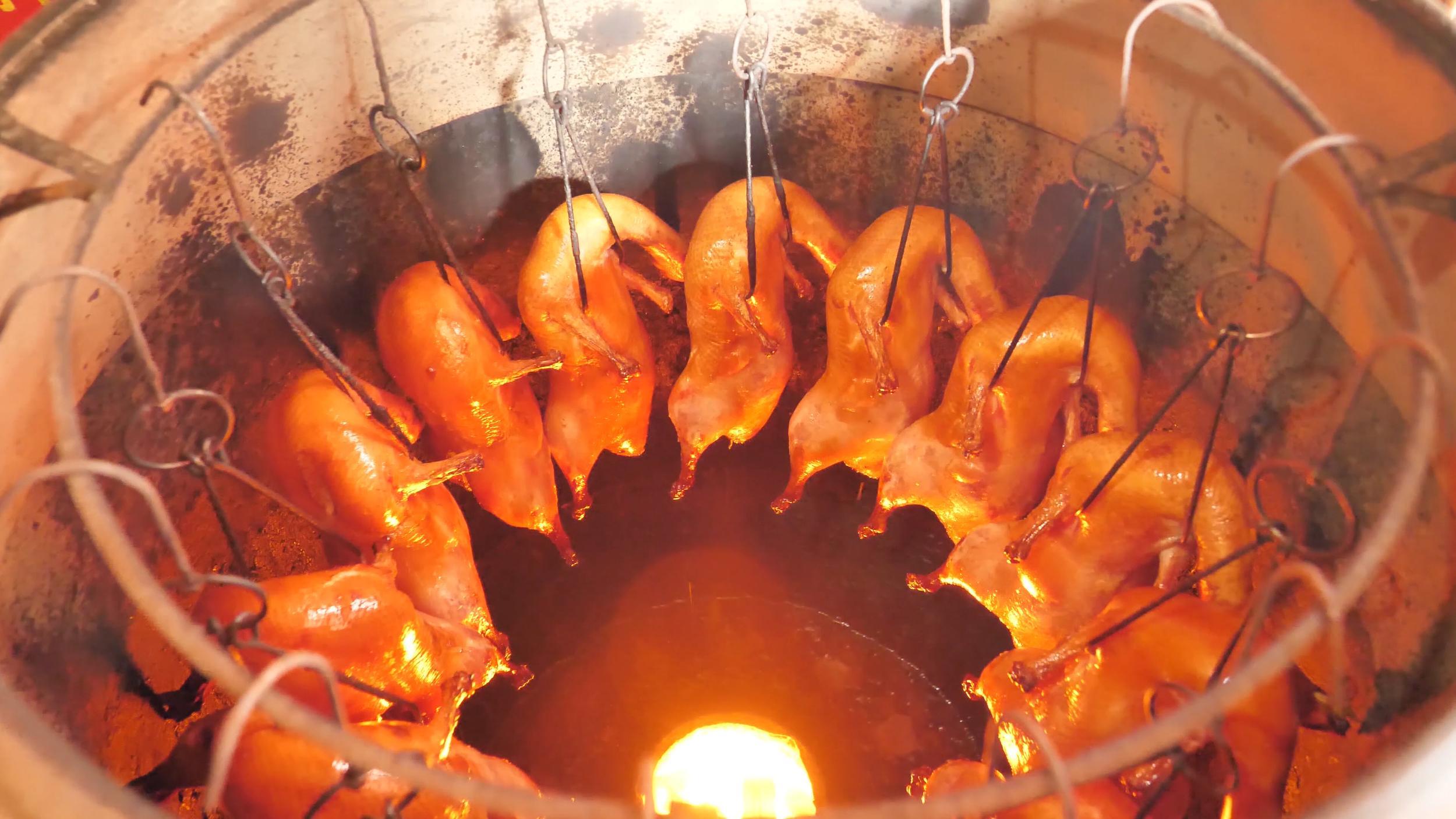 roast duck in chengdu, china
