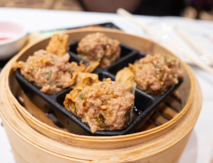 steamed beef meatball dim sum with water chestnut and cilantro dim sum