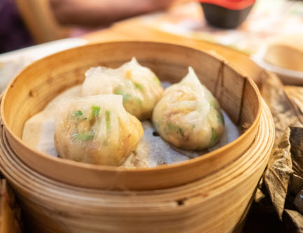 One of the most famous dim sum dishes to try is the chaozhou fun guo steamed dumplings