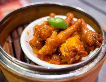 One of the most delicious and famous dim sum dishes to order is the feng zao chicken feet
