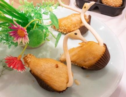 fried durian puffs in hong kong
