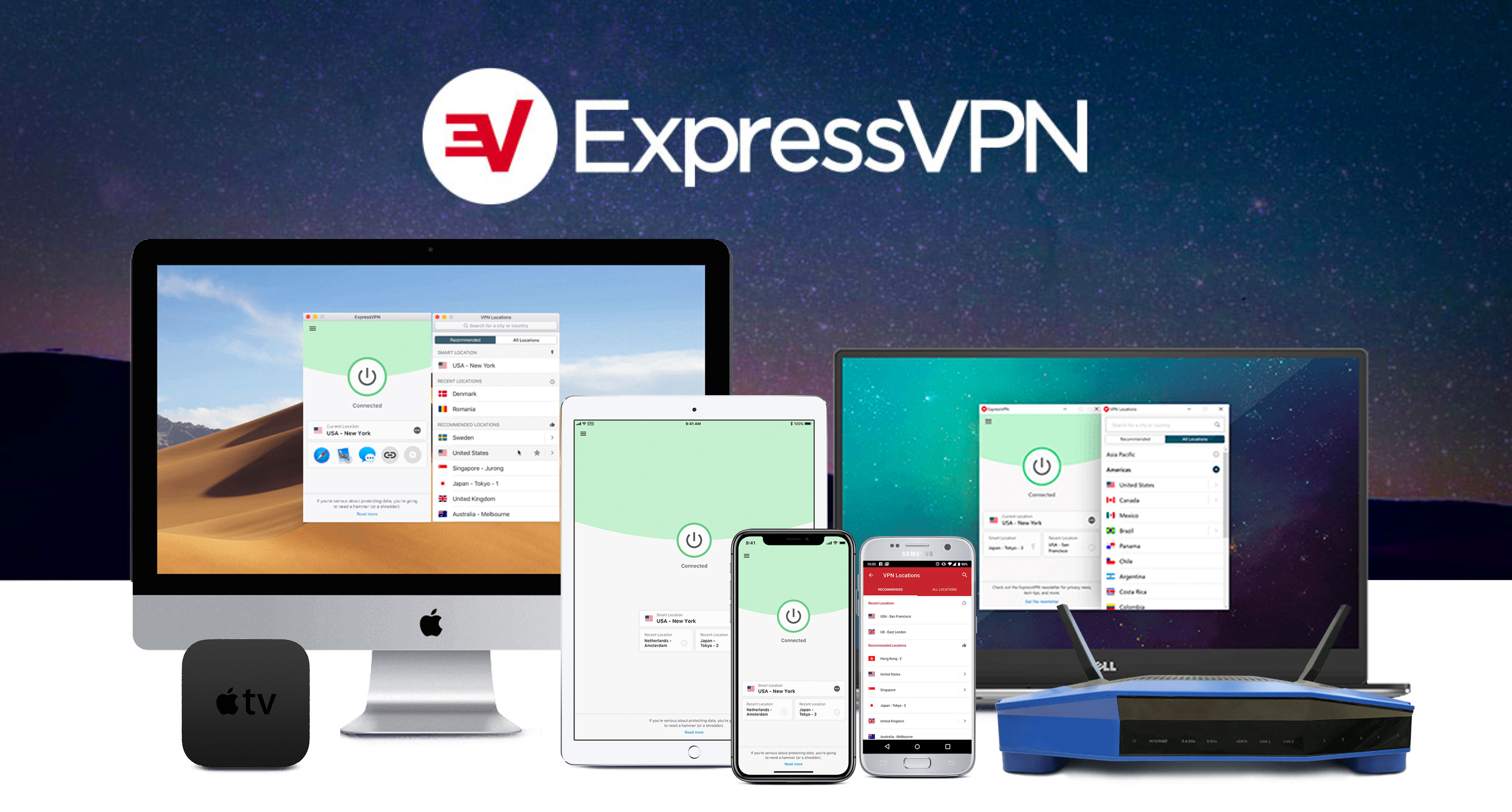 the devices that can be used on expressvpn are all shown in this image