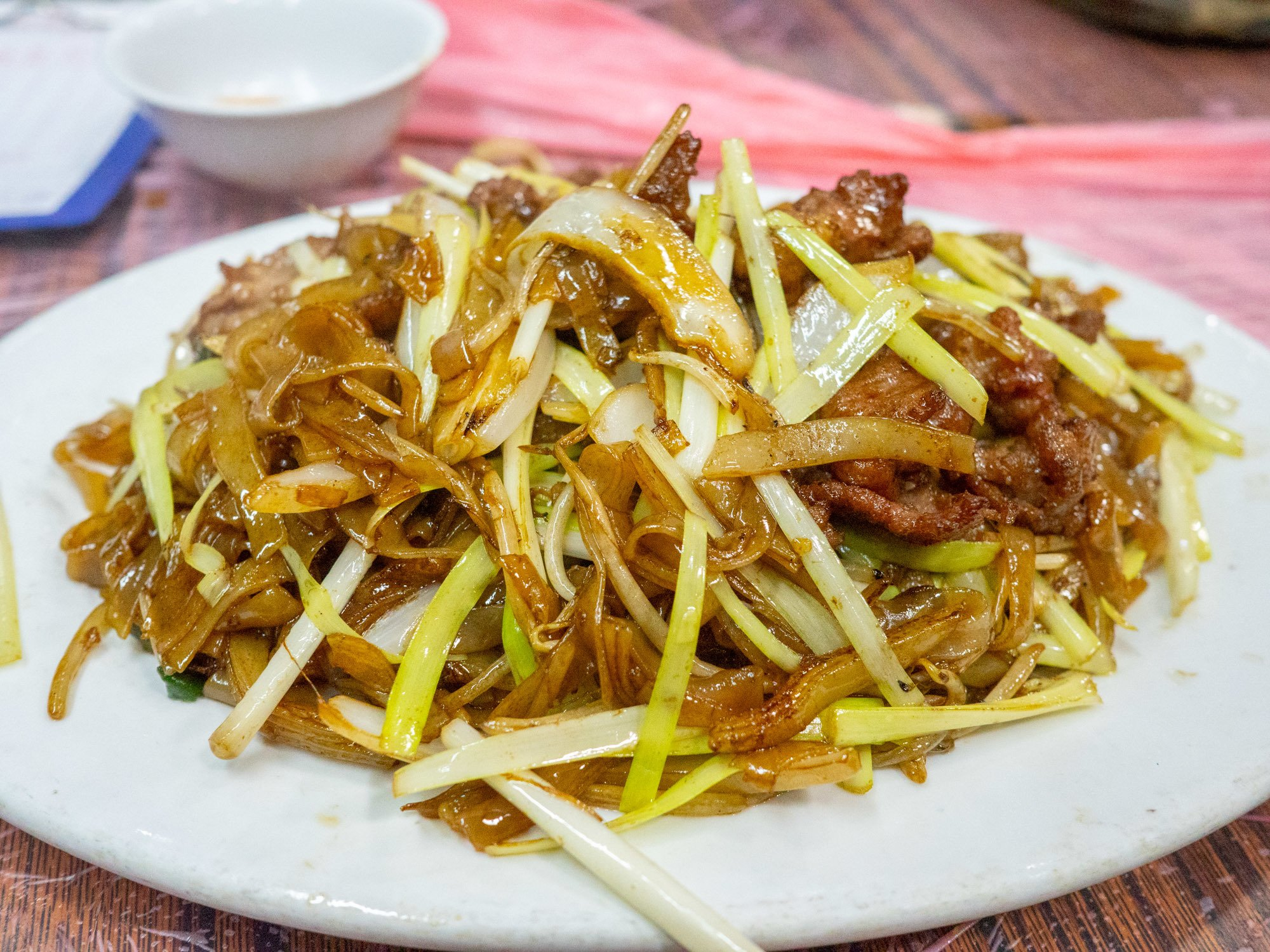 """Fried rice noodles with beef in hong kong, where the chefs have mastered the """"wokhei"""" breath of the wok!"""