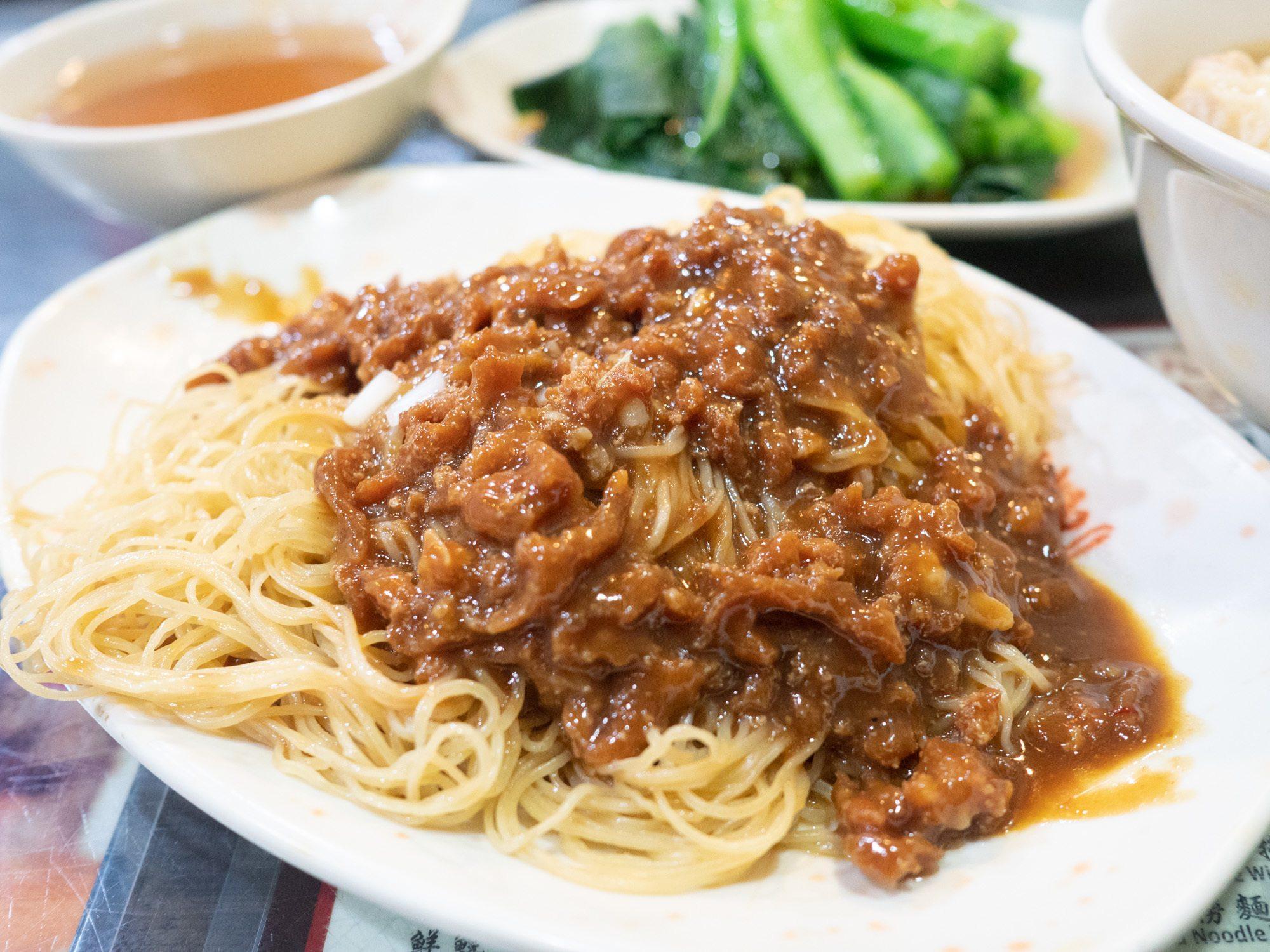 Hong Kong style Zhajiang noodles from good hope restaurant in mongkok