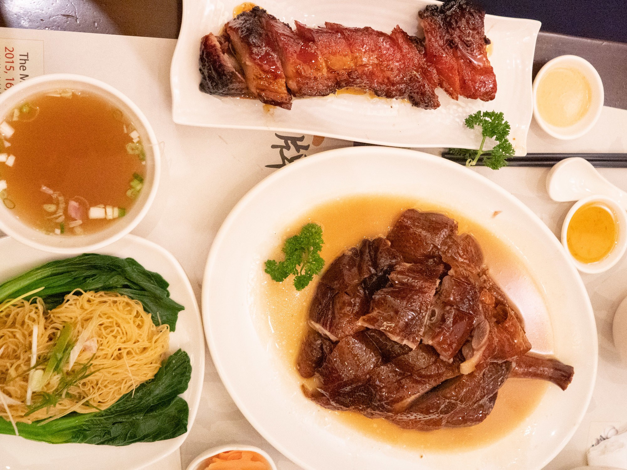 Kam's roast goose and bbq pork, an amazing combination of classic cantonese cuisine