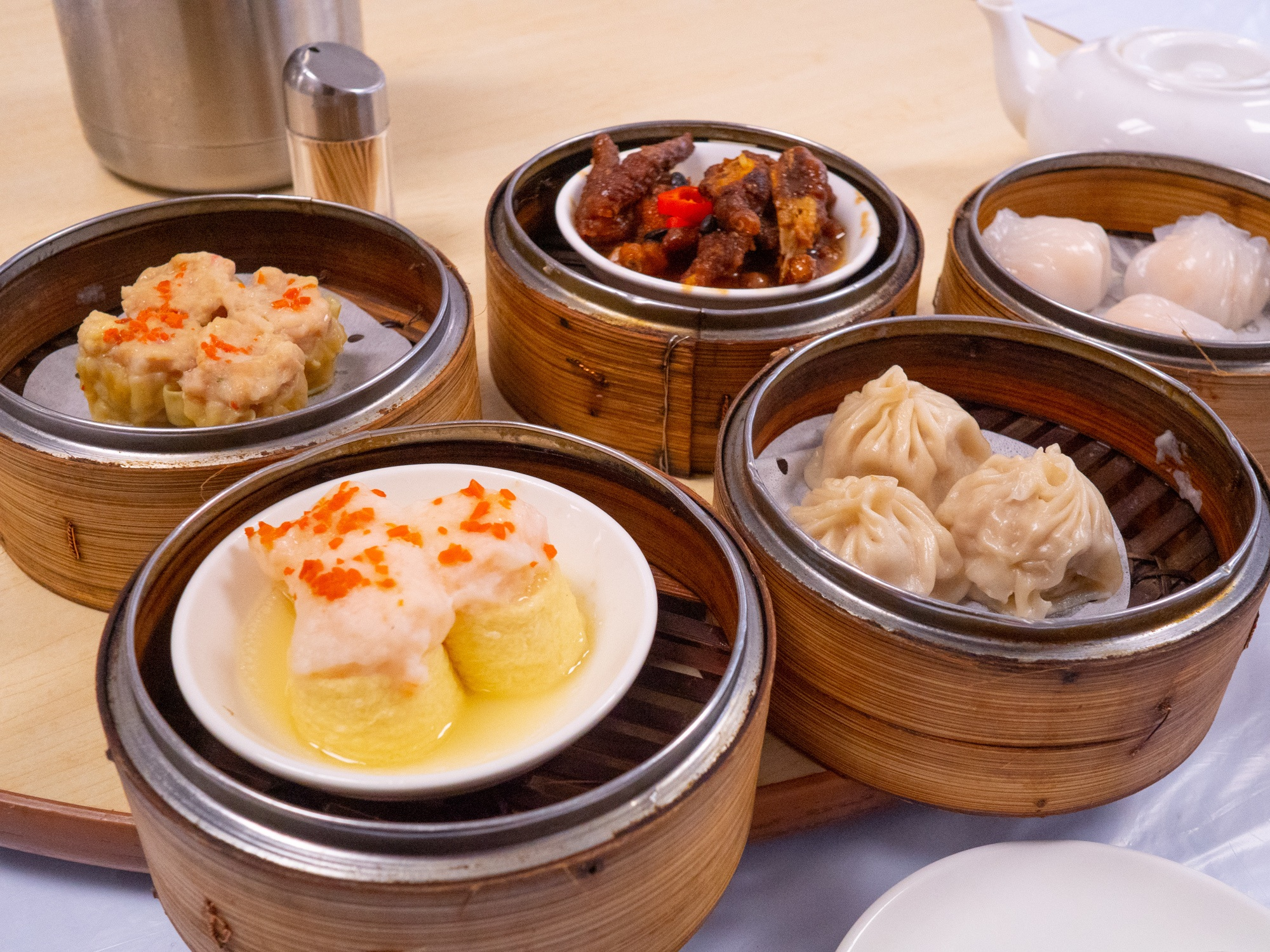 Shown here are some of the halal dim sum at the mosque in wan chai.