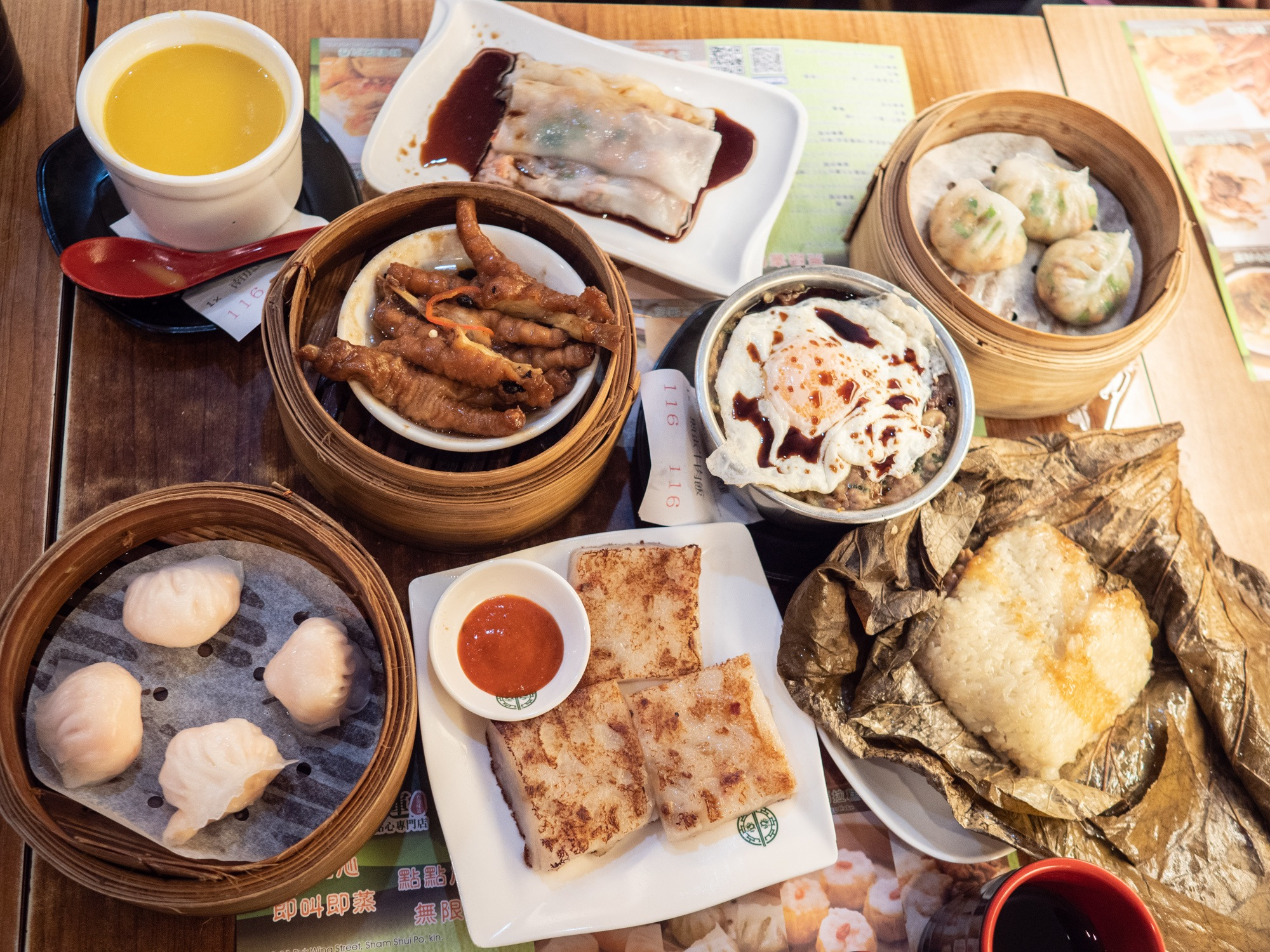 Tons of delicious dim sum at tim ho wan