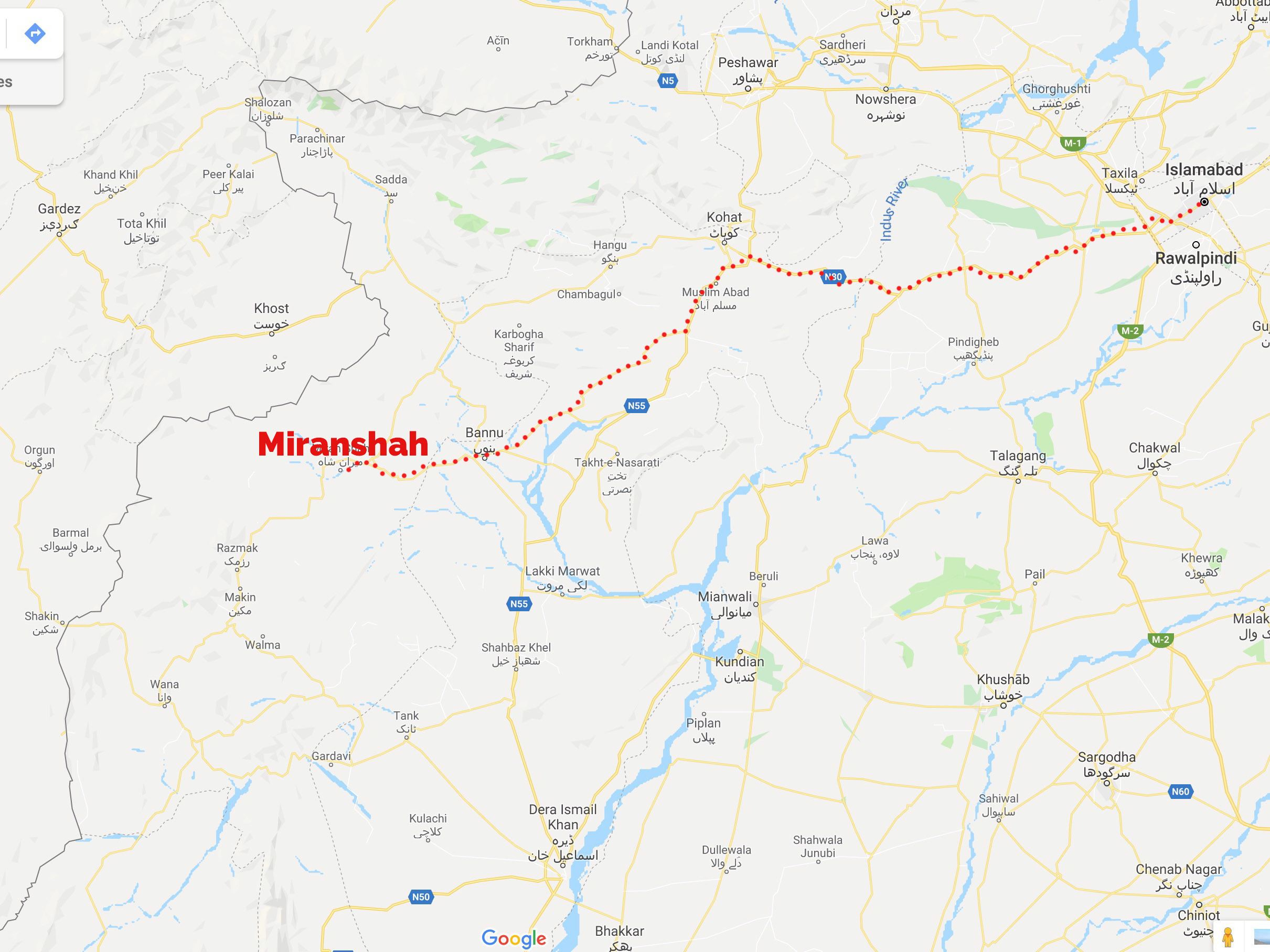 Map of Waziristan